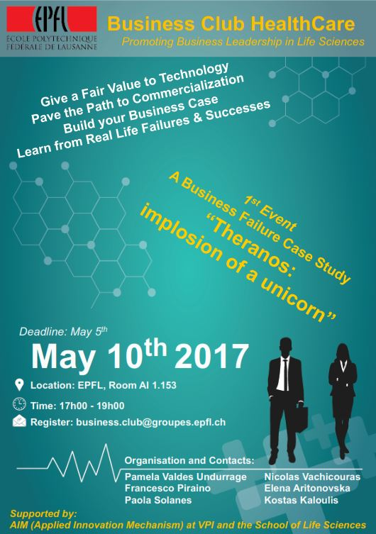 "BSNL Recommends: ""the first Business Journal Club"". May 10, 2017 from 5pm at EPFL."